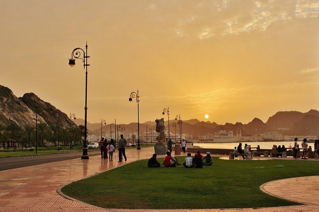 Muttrah Corniche in Muscat where people can rent bicycles | © Prasad Pillai / Flickr